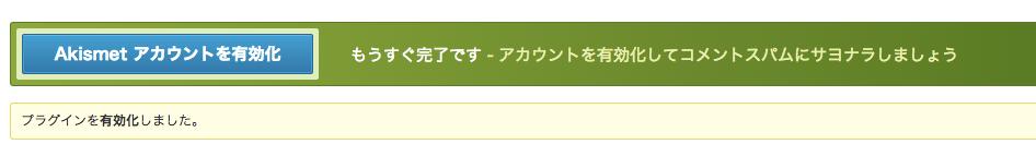 Akismet設定2